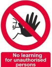 No learning for unauthorised persons