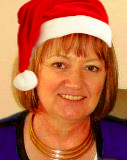 Marlene in Santa hat